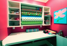 Katherine Connell Interior Design - wrapping room! #pink