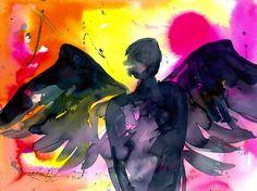 Angel No.20  Original  by Kathy Morton Stanion