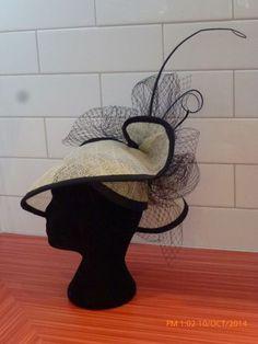 BLACK &CREAM BY ROZ WILLMOTT-DALTON #millinery #hats #HatAcademy