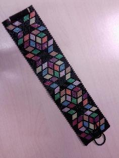 Colourful peyote bracelet