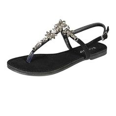 """Spotted while shopping on Poshmark: """"Black Beaded Sandal NWOT""""! #poshmark #fashion #shopping #style #Shoes"""