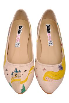 Vente Dogo / 17684 / Chaussures / Ballerines / Ballerines Ecru et jaune