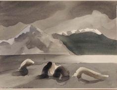 Artist: Toni Onley, Title: Drift Logs, Harrison Lake - click to close window