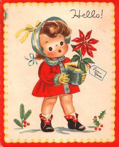 Vintage Christmas card | http://imagimeris.blogspot.de/2013/12/making-merry-for-over-25-visitors.html