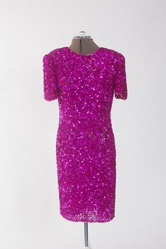 Vintage Pink Sequin Dress (S:10) This is great for the upcoming holidays.