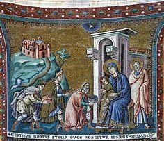 Ya vienen los Reyes Magos: una breve historia de Sus Majestades: Pietro Cavallini. Adoración de los magos. Santa Maria in Trastevere