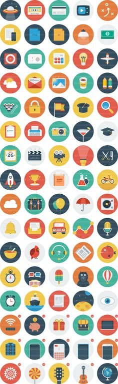 Flat icons from Ballicons / #free #icons #design #trend
