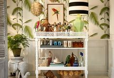 Sometimes you need to get off the beaten path to find the perfect home accents. Here's a list of unique places to shop for home décor. Tropical Home Decor, Tropical Style, Bar Cart Styling, Bonus Rooms, School Decorations, Home Decor Online, Love Home, Home Accents, Ladder Decor