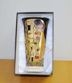 Klimt Vase Der Kuss Porzellan schwarz XL Collection, Atelier, Porcelain Black, Black Gold, Vase For Flowers, Gifts