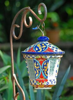 #Talavera Mexican lamp