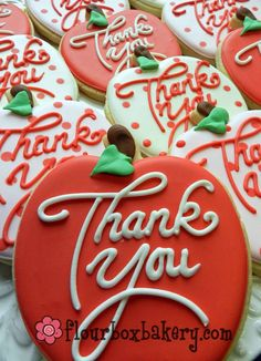 Thank You Cookies Thank You - teacher cookies Thank You Cake, Thank You Cookies, Fancy Cookies, Cute Cookies, Apple Cookies, Iced Cookies, Sugar Cookies, Cookies Et Biscuits, Frosted Cookies