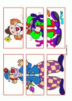 Le Clown, Circus Clown, Clowns, Diy Crafts Videos, Kids Education, Mardi Gras, More Fun, Puzzles, Kindergarten