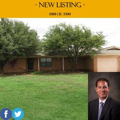 *NEW LISTING* 15101 CR 3300. 3/2. Price: $104,900. For more information, call (806) 793-8111. http://www.c21lubbockrealestate.com/property/tx/slaton/79364/-/15101-county-road-3300/555e56730378156f9c0000fe/ #HomesForSale #RealEstate #Lubbock