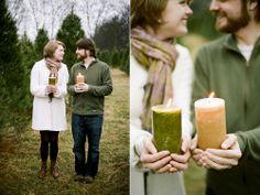 Christmas tree farm photo session - winter engagement session - Jenna Henderson, Photographer
