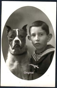 1924. I like that the dog is in focus but ot the boy.