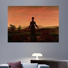 "Charlton Home 'Woman at Dawn' by Caspar David Friedrich Graphic Art Print Poster Size: 43"" H x 60"" W"