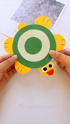 Diy Crafts For Kids Easy, Animal Crafts For Kids, Spring Crafts For Kids, Diy Crafts For Gifts, Paper Crafts For Kids, Craft Activities For Kids, Toddler Crafts, Creative Crafts, Preschool Crafts