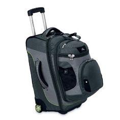 "Want it...:) Amazon.com: High Sierra 22"" Wheeled Backpack (Graphite/Titanium/Spring): Clothing"