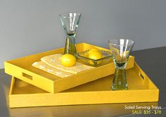 Green Your Decor - Serve Up a Little Color: Soleil Serving Trays from Bambeco, 6/16/2009