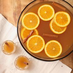 A festive fall punch perfect for parties, made with apple cider, hard cider, ginger beer, and whiskey.