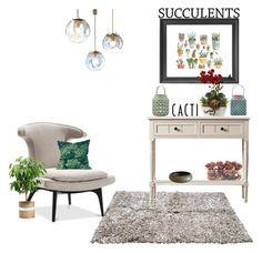 """Senza titolo #5414"" by waikiki24 on Polyvore featuring interior, interiors, interior design, Casa, home decor, interior decorating, Bloomingville, John-Richard, Dot & Bo e succulents"