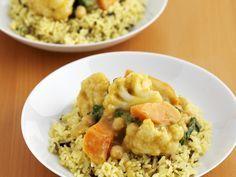 Indisches Curry-Gemüse mit Reis - smarter - Zeit: 10 Min. | eatsmarter.de Gemüsecurry - wer braucht da schon Fleisch?