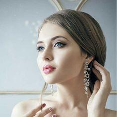 Boucles d'oreilles mariage chandelier cristal Naiade - ODAZZ Mariage