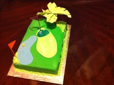 Vanilla golf cake with vanilla buttercream .
