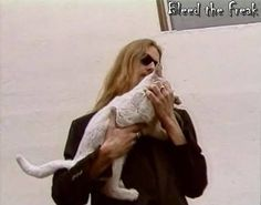 Jerry Cantrell and Sadie, siamese cat of the late Layne Staley(Alice in Chains)