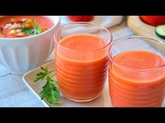GAZPACHO andaluz fácil, rápido y riquísimo. - YouTube My Favorite Food, Favorite Recipes, Tasty Videos, Cantaloupe, Keto, Vegan, Fruit, Cooking, Youtube