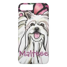 Maltese  Pet Name iPhone 8 Plus/7 Plus Case - monogram gifts unique custom diy personalize