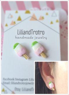 A personal favorite from my Etsy shop https://www.etsy.com/ca/listing/475577315/donut-earrings-donut-ear-studs-pink