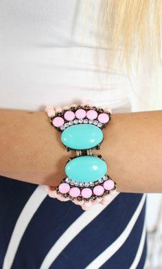 Modern Vintage Boutique - Pink Fan Fringed Bracelet, $14.00 (http://www.modernvintageboutique.com/pink-fan-fringed-bracelet.html)