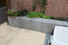 U element grijs tuin beton