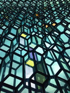 Inside the Harpa in Summer