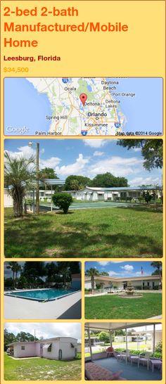 2-bed 2-bath Manufactured/Mobile Home in Leesburg, Florida ►$34,500.00 #PropertyForSale #RealEstate #Florida http://florida-magic.com/properties/84641-manufactured-mobile-home-for-sale-in-leesburg-florida-with-2-bedroom-2-bathroom