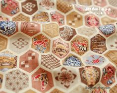 Japanese fabric, beehive fabric, dress making fabric, patchwork fabric, sold by half a yard. $8.30, via Etsy.