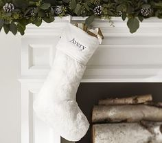 Faux Fur Stocking Collection #pbkids