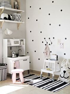 IKEA Nursery furniture & lovely dotted wall paint design