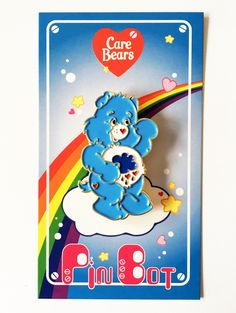 Here is an awesome Grumpy Bear Enamel Pin from PinBot! 100 Cheer bear pins were made and each pin is numbered on back. Retro Toys, Vintage Toys, Retro Vintage, Retro Cartoons, 80s Kids, Care Bears, Pin And Patches, Cute Pins, Disney Pins