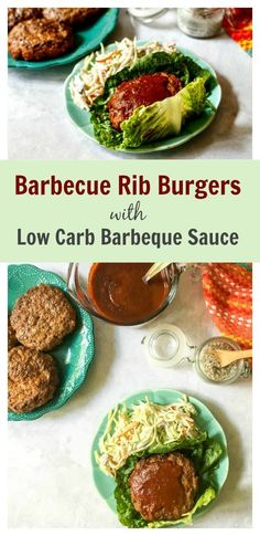 #SundaySupper Low Carb Barbecue Rib Burgers with Low Carb Barbecue Sauce - If ribs and burgers had a baby! Easy low carb dinner on the grill.