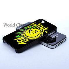 Blink 182 Yellow Logo, Photo On Hard Cover iPhone case, iPhone 4 Case, iPhone 4S Case, iPhone 4 Case