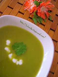 Суп из брокколи и кольраби с карри