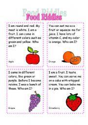 fruit riddles riddle me this worksheets for kids. Black Bedroom Furniture Sets. Home Design Ideas