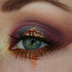Eye Makeup Tips – How To Apply Eyeliner – Makeup Design Ideas Makeup Goals, Makeup Inspo, Makeup Art, Makeup Inspiration, Makeup Ideas, Gold Makeup, Glitter Makeup, Copper Eye Makeup, Makeup Salon
