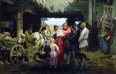 Seeing Off a Recruit by Ilya Repin