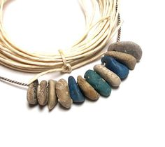 Michigan Beach Sea Glass Pebbles Fossils Stones Jewelry by StoneMe, $18.75