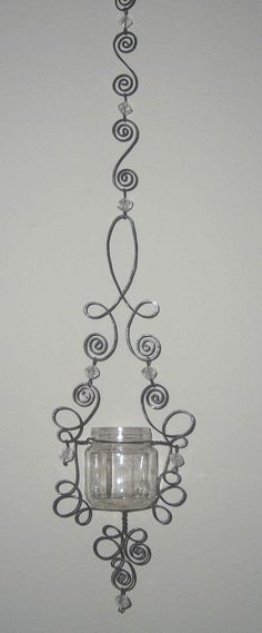 Wire Wrap candle holders