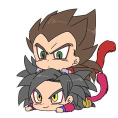 Chibi Goku and Vegeta Goku Chibi, Anime Chibi, Kawaii Anime, Anime Art, Goku Dragon, Dragon Ball Gt, Gogeta E Vegito, Illustration Studio, Manga Illustration