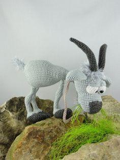 Amigurumi Crochet Pattern Gus the Goat English Version